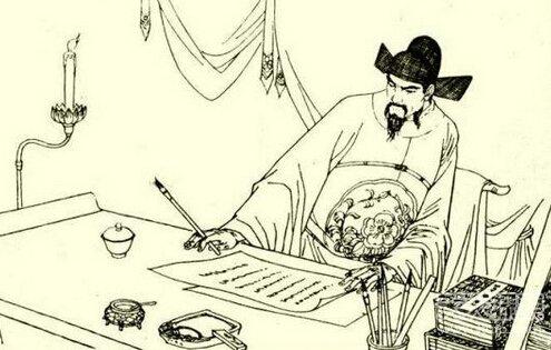 古代人彩色简笔画
