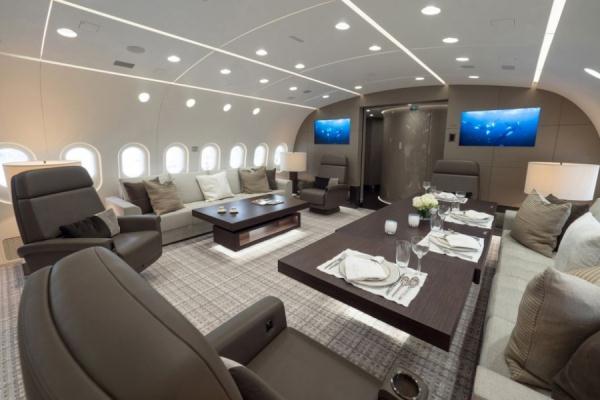 世界最豪华私人飞机中国神秘巨富买走(1)