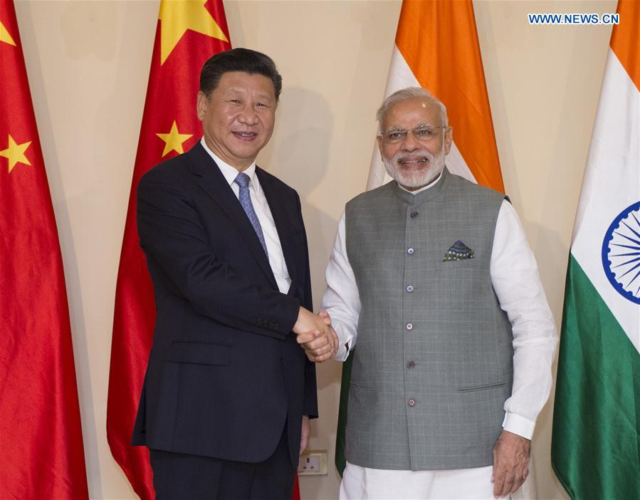 INDIA-GOA-CHINA-XI JINPING-MODI-MEETING