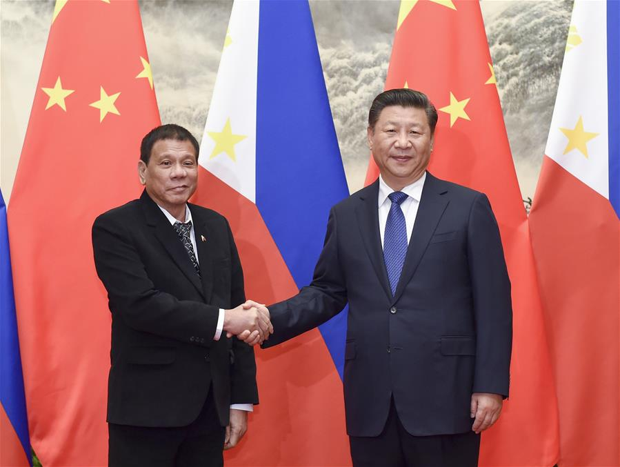 Xi, Duterte agree on full improvement of ties
