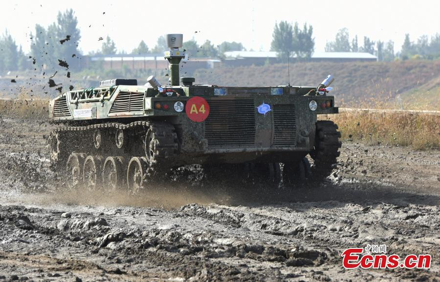 Military unmanned ground vehicles compete in Beijing