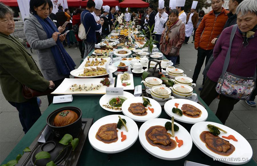 #CHINA-HANGZHOU-VEGETARIAN-COOKING COMPETITION (CN)