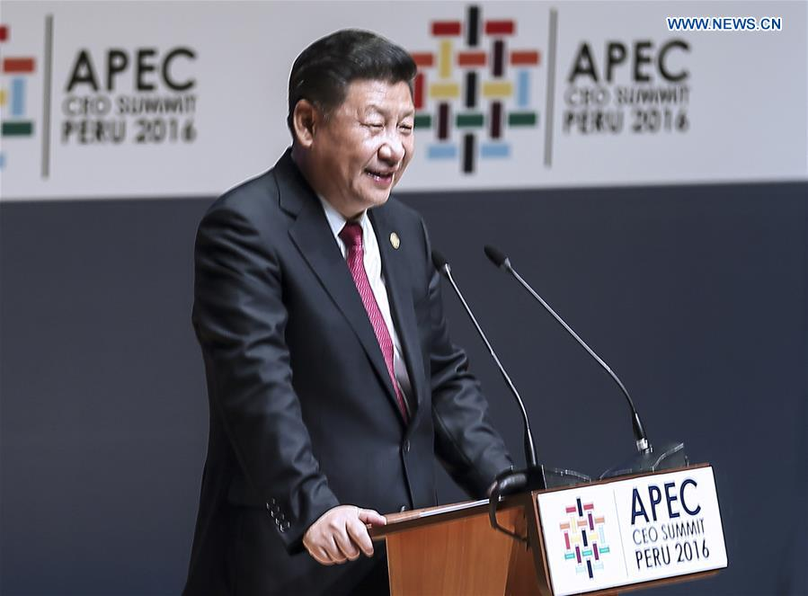 PERU-CHINA-XI JINPING-APEC CEO SUMMIT-SPEECH