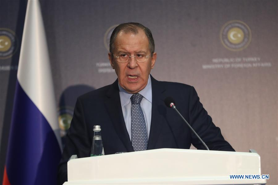 TURKEY-RUSSIA-LAVROV-NEWS CONFERENCE