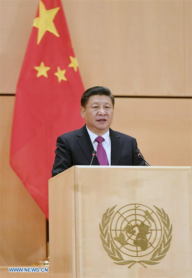 SWITZERLAND-GENEVA-XI JINPING-UN-SPEECH