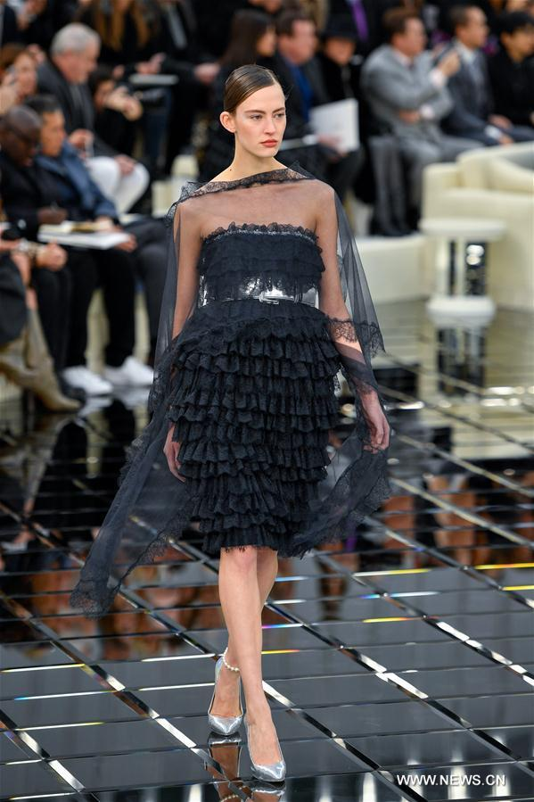 Chanel haute couture fashion collection held in paris 1 for Haute couture in english