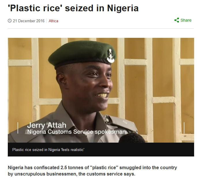 The Plastic Rice That Never Was