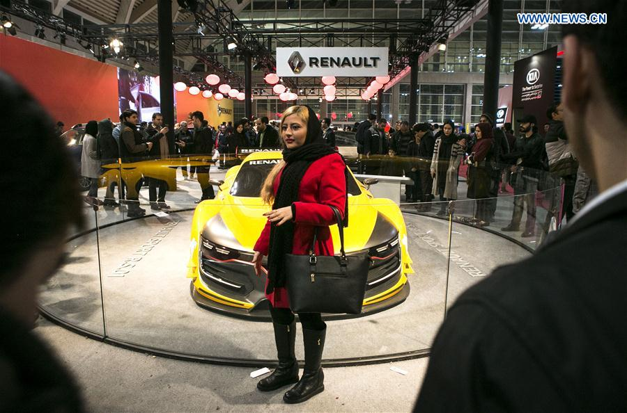 People visit Tehran Auto Show 2017 in Tehran, capital of Iran, on Feb. 16, 2017.