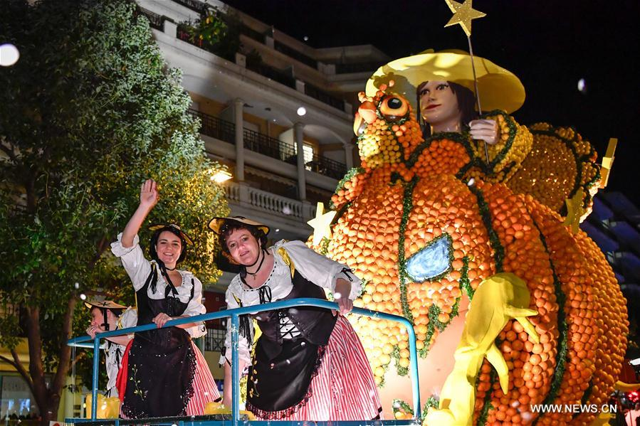 FRANCE-MENTON-LEMON FESTIVAL-NIGHT TIME PARADE