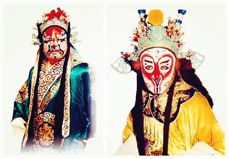 Intriguing facial makeup in Peking Opera
