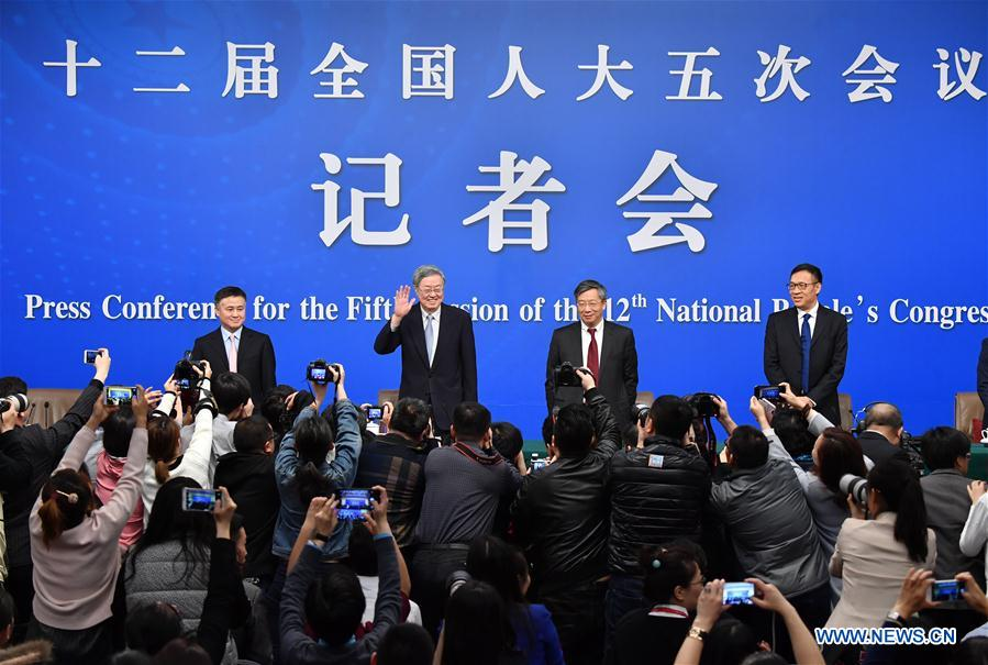 (TWO SESSIONS)CHINA-BEIJING-NPC-PRESS CONFERENCE-PEOPLE'S BANK OF CHINA (CN)