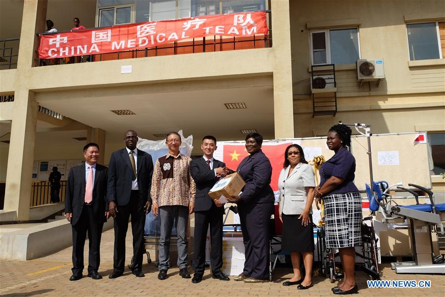 GHANA-ACCRA-DONATION-CHINESE MEDICAL TEAM