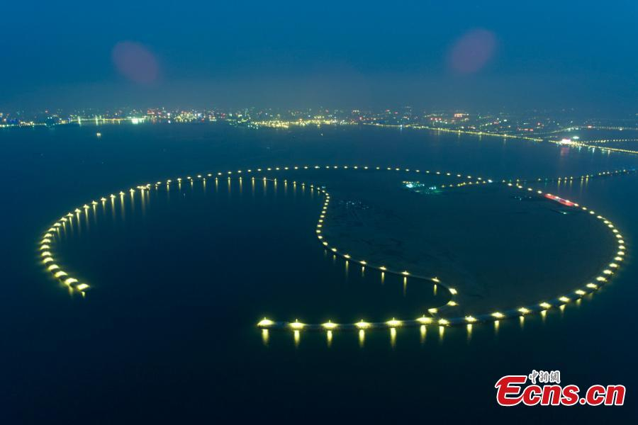 Massive artificial island under construction in Hainan