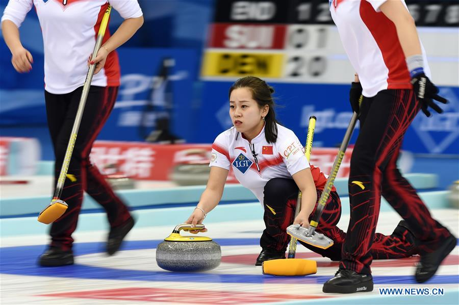 (SP)CHINA-BEIJING-CURLING-WORLD WOMEN'S CHAMPIONSHIP