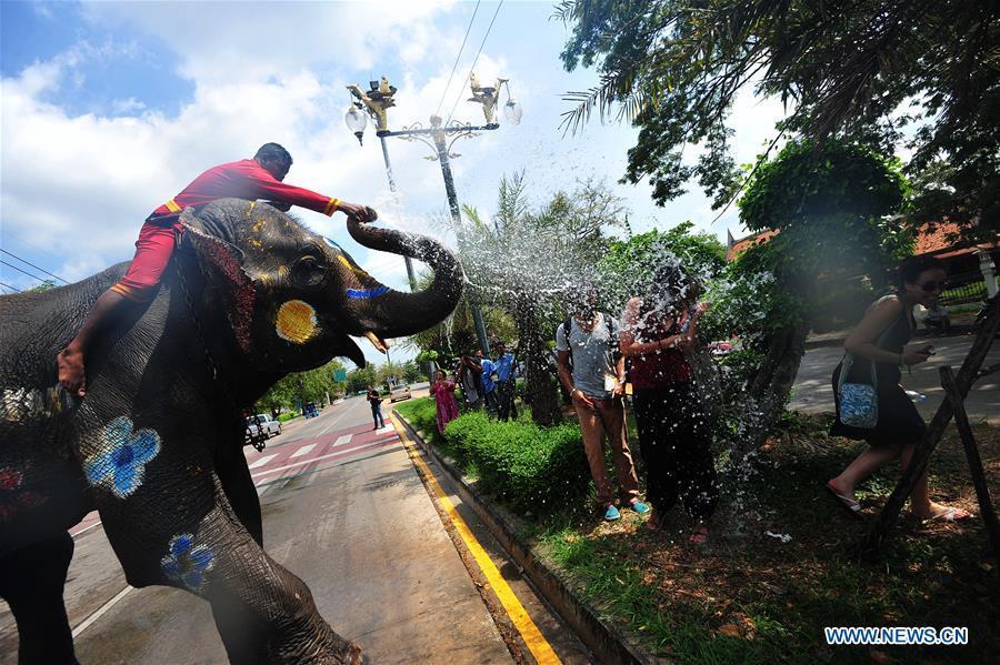Songkran festival marked in Ayutthaya, Thailand