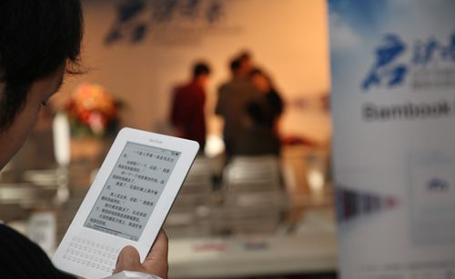 A man reads on a digital device. [File photo: qianlong.com]
