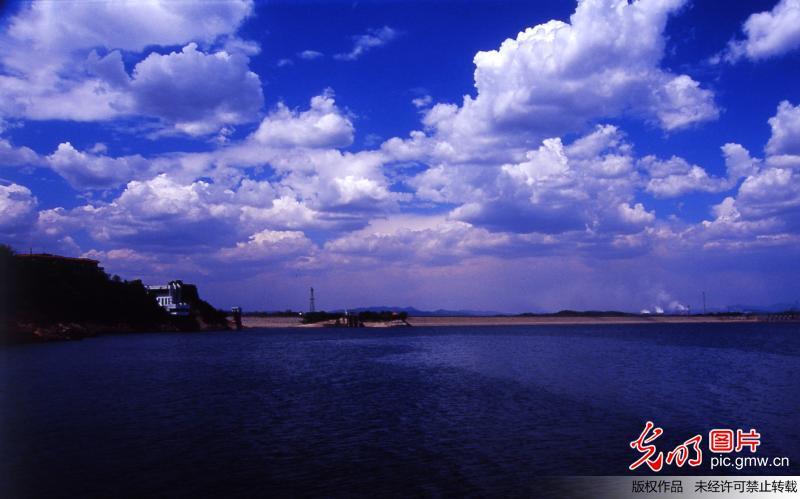 Beautiful scenery of Dahuofang Reservoir in China's Liaoning