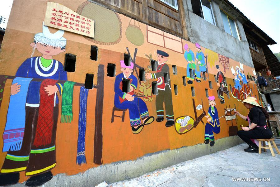 #CHINA-GUANGXI-RURAL HOUSE-PAINTING (CN)