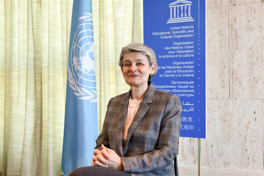FRANCE-PARIS-UNESCO-IRINA BOKOVA-INTERVIEW