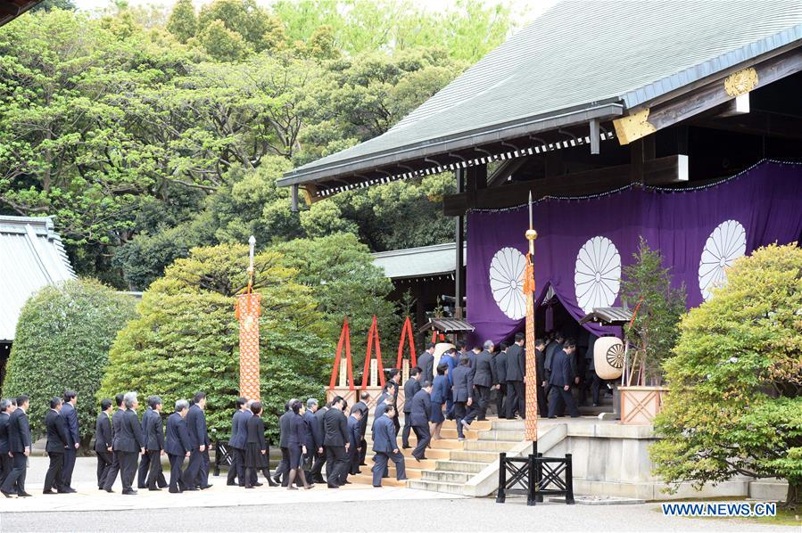JAPAN-TOKYO-YASUKUNI SHRINE-LAWMAKERS-VISIT