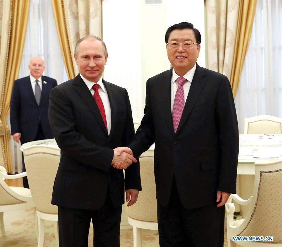 RUSSIA-CHINA-ZHANG DEJIANG-VISIT