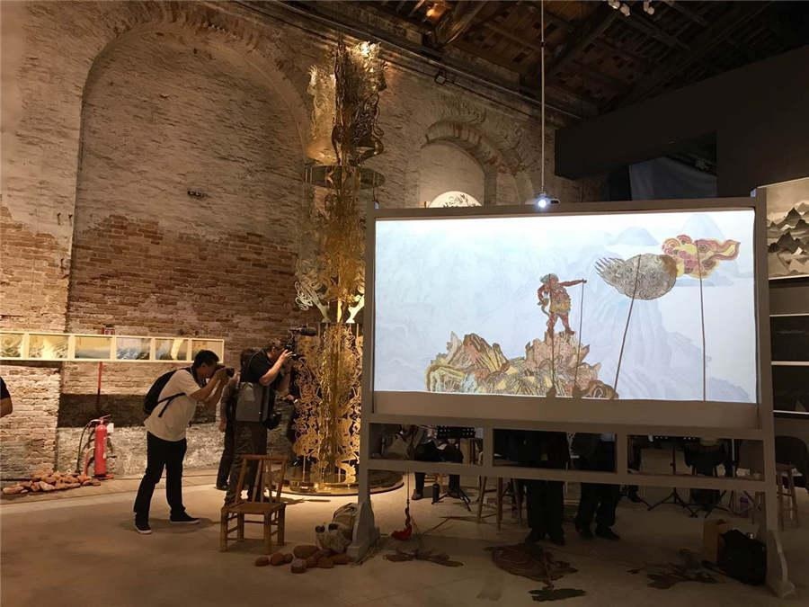 Chinese put finishing touches on exhibition at Venice Biennale