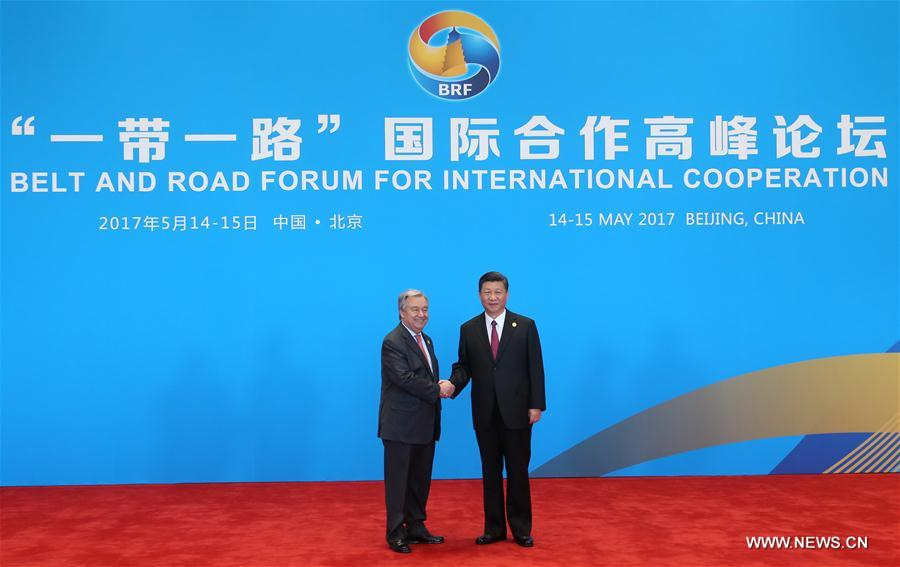 (BRF)CHINA-BEIJING-BELT AND ROAD FORUM-LEADERS' ROUNDTABLE SUMMIT-XI JINPING(CN)