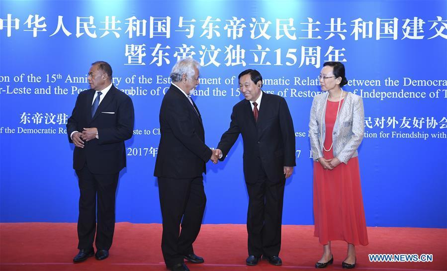 CHINA-BEIJING-TIMOR-LESTE-DIPLOMATIC RELATIONS-ANNIVERSARY (CN)