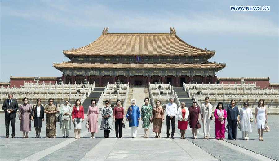 (BRF)CHINA-BELT AND ROAD FORUM-PENG LIYUAN-PALACE MUSEUM-VISIT (CN)