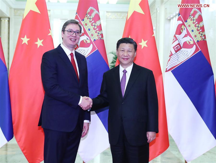 CHINA-BEIJING-XI JINPING-SERBIA-MEETING (CN)