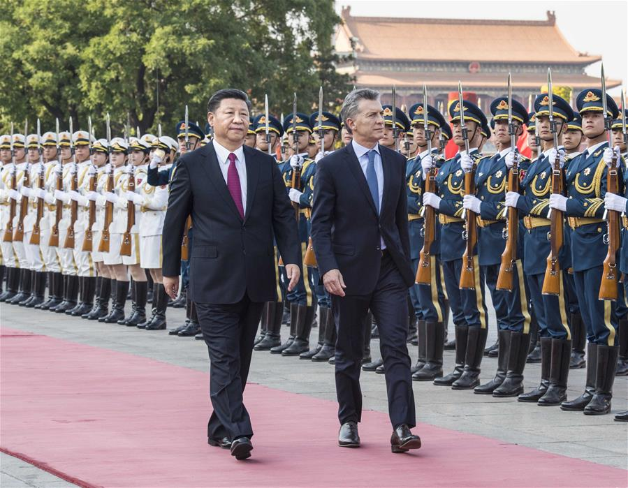 CHINA-BEIJING-XI JINPING-MAURICIO MACRI-TALKS (CN)