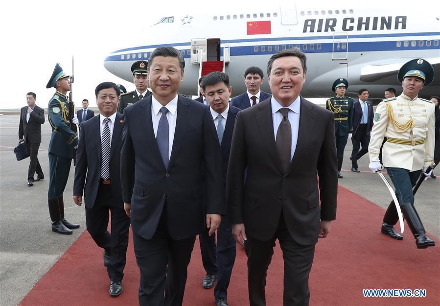 KAZAKHSTAN-CHINA-XI JINPING-ARRIVAL