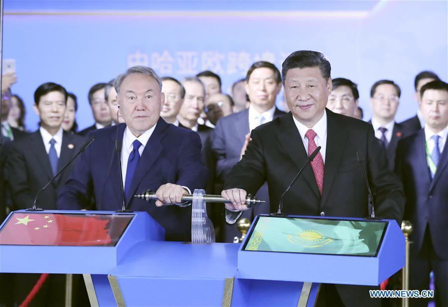 KAZAKHSTAN-CHINA-XI JINPING-ASTANA EXPO-CHINESE PAVILION-VISIT