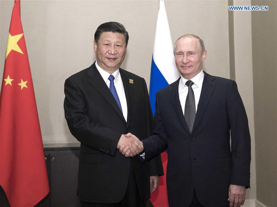 KAZAKHSTAN-CHINA-XI JINPING-PUTIN-MEETING