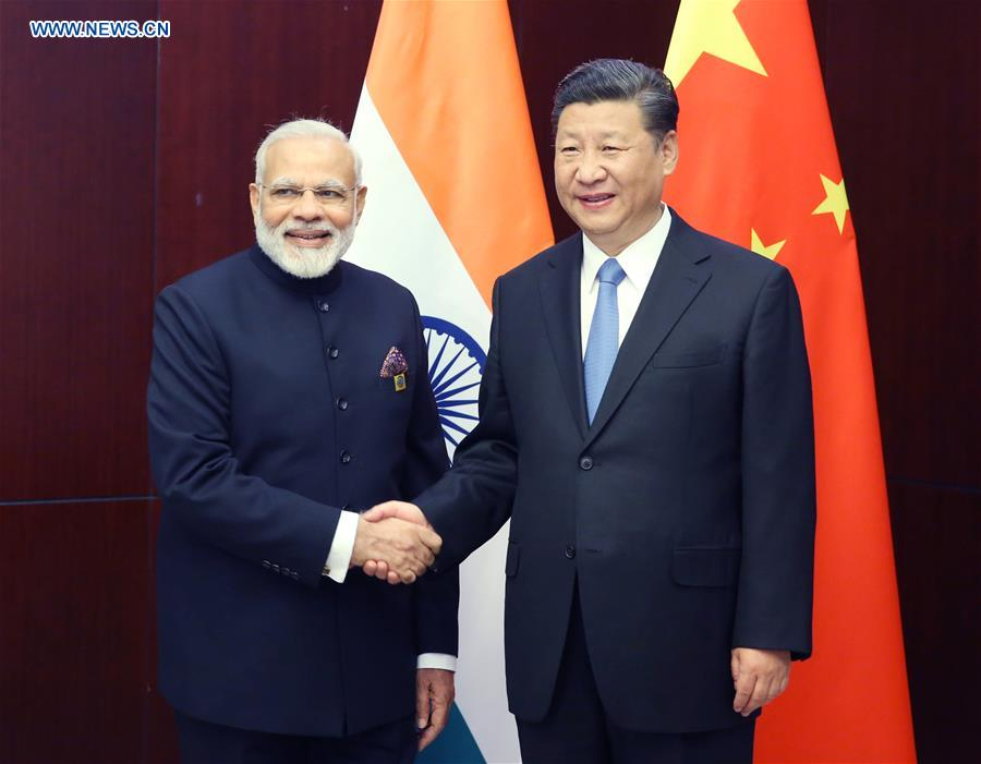 KAZAKHSTAN-CHINA-XI JINPING-MODI-MEETING