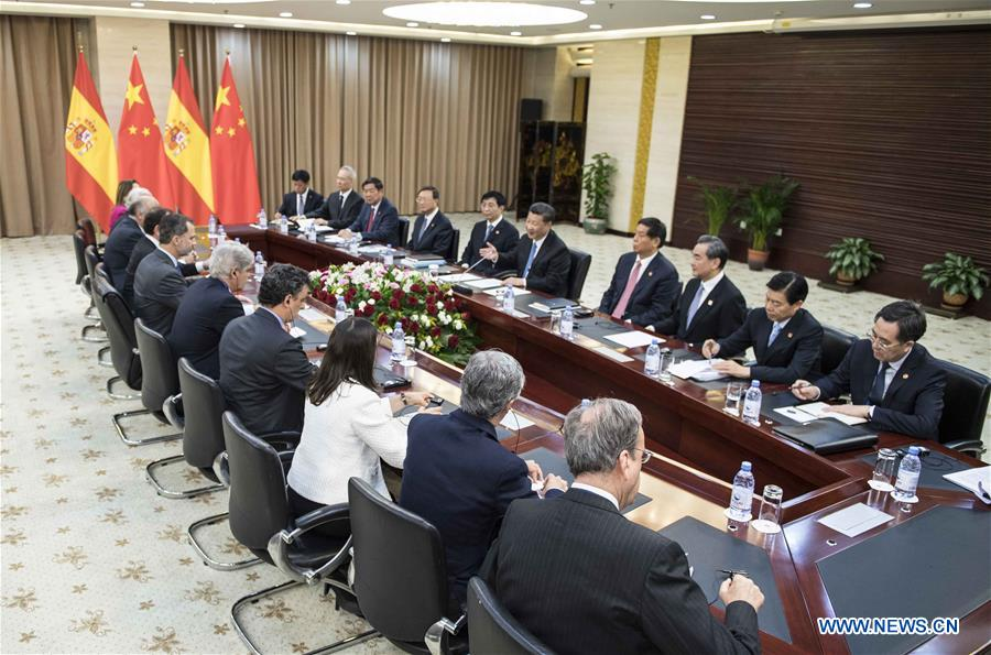 KAZAKHSTAN-CHINA-XI JINPING-SPANISH KING-MEETING