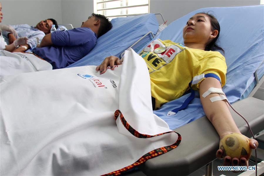 CAMBODIA-PHNOM PENH-WORLD BLOOD DONOR DAY