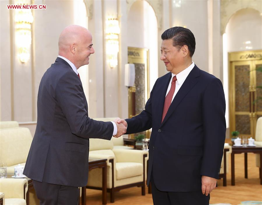 CHINA-BEIJING-XI JINPING-FIFA-MEETING (CN)