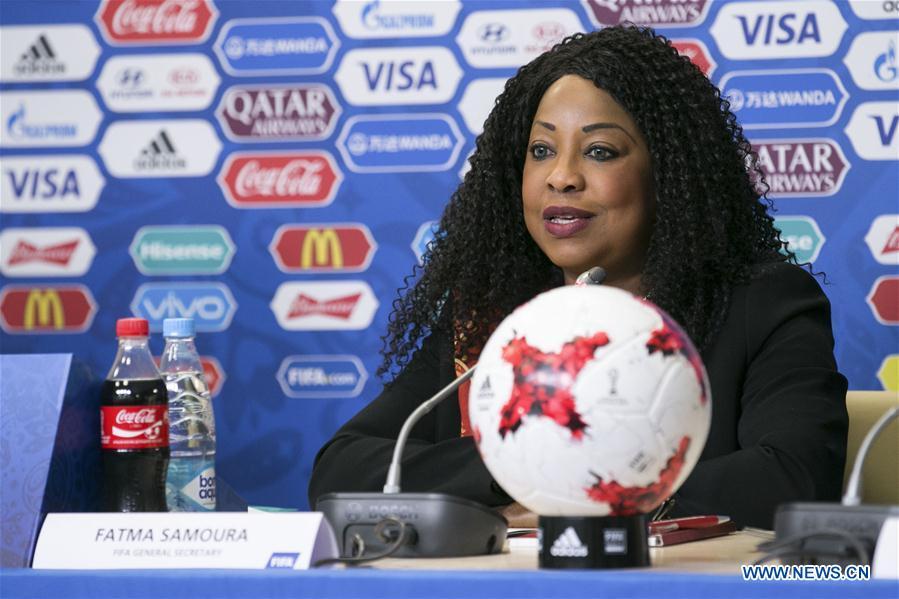 (SP)RUSSIA-SAINT PETERSBURG-SOCCER-FIFA CONFEDERATIONS CUP-PRESS CONFERENCE