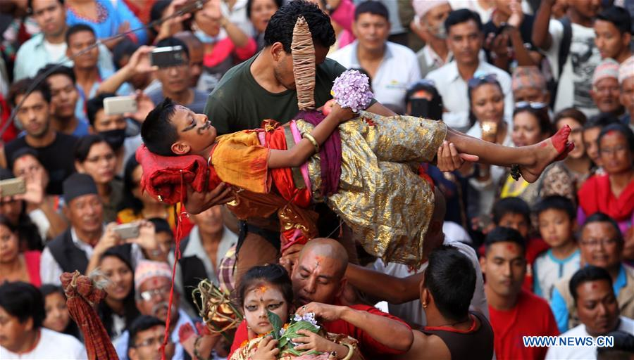 NEPAL-KATHMANDU-TRIDENT FESTIVAL