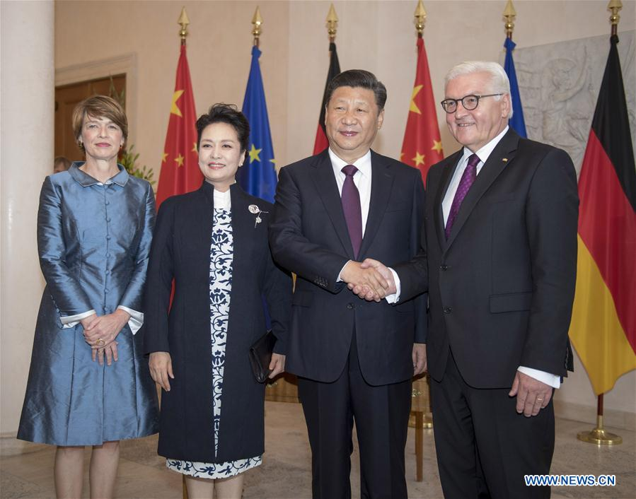 GERMANY-CHINA-XI JINPING-STEINMEIER-MEETING