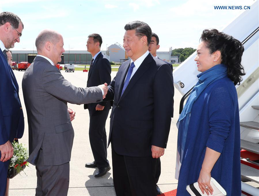 GERMANY-HAMBURG-XI JINPING-G20 SUMMIT-ARRIVAL