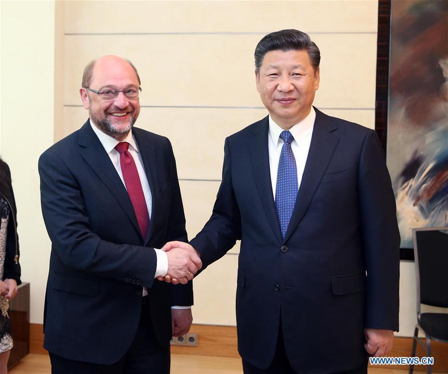 GERMANY-BERLIN-XI JINPING-SPD LEADER-MEETING