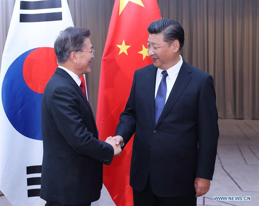GERMANY-BERLIN-XI JINPING-SOUTH KOREA-MEETING