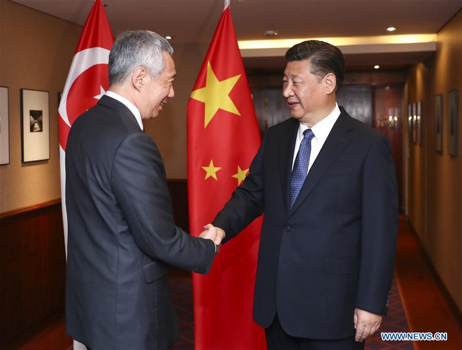 GERMANY-HAMBURG-XI JINPING-SINGAPORE-MEETING