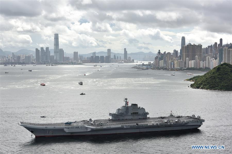 CHINA-HONG KONG-AIRCRAFT CARRIER FORMATION-ARRIVAL (CN)
