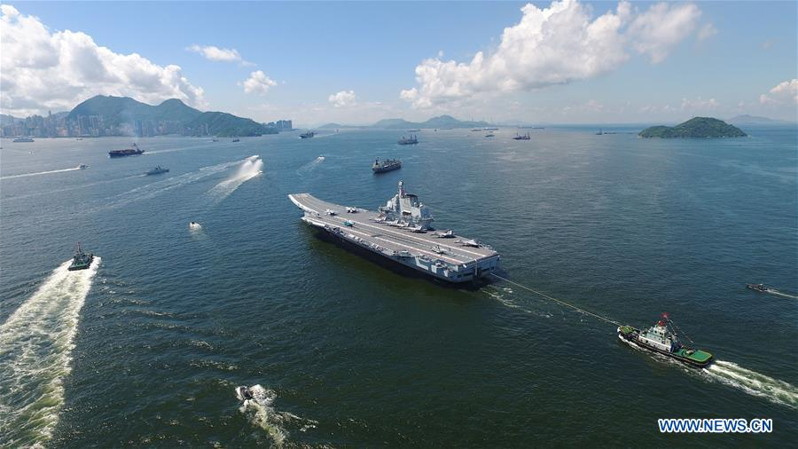 China's Liaoning aircraft carrier leaves Hong Kong after five-day visit