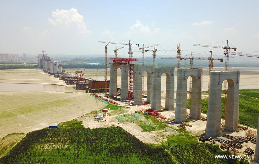 CHINA-HENAN-SANMENXIA-HIGHWAY RAILWAY BRIDGE-CONSTRUCTION (CN)