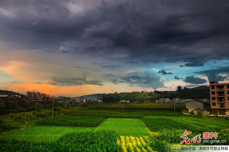 Amazing scenery of clouds in Shiyan City