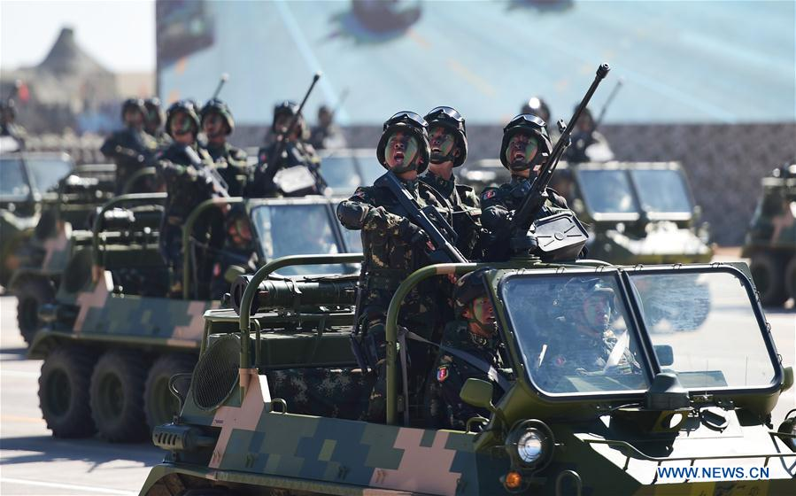 (PLA 90)CHINA-INNER MONGOLIA-ZHURIHE-MILITARY PARADE (CN)